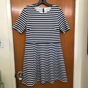 H&M Striped Dress - Blue and White